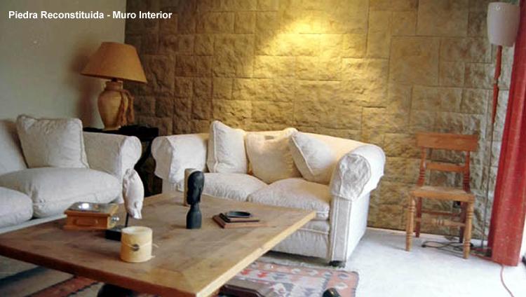 Revestimientos y piedras for Piedra para muros interiores